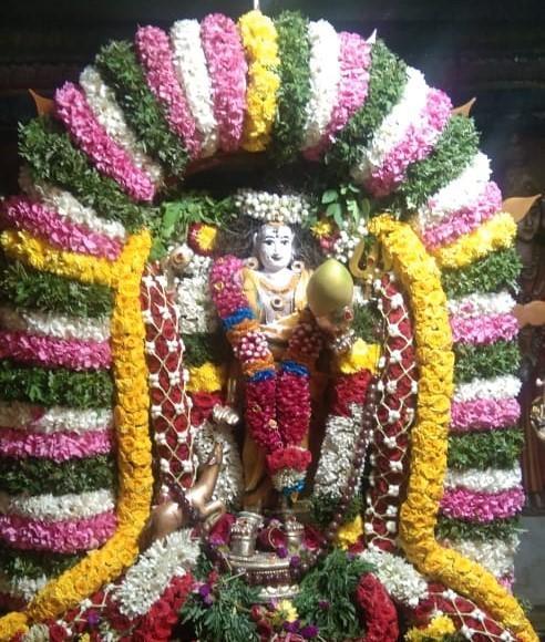 சிறப்பு அலங்காரத்தில் காட்சியளிக்கும் பிச்சாண்டவர்