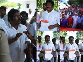 indian-bank-employees-union-protest-photos