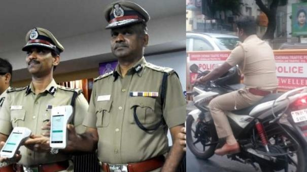 police-si-suspended-without-wearing-helmet-police-act-on-public-complaint