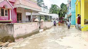 sea-water-flood-in-village