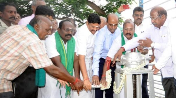 minister-sampath-releases-water-from-veeranam