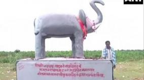 chhattisgarh-villagers-install-elephant-statue-to-keep-pachyderms-from-destroying-crops