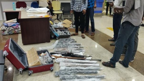 23-guns-seized-in-madurai-airport