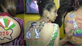 women-pose-with-body-paint-tattoos-for-navratri