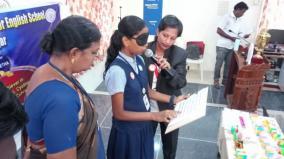 virudhunagar-school-kid-excels-in-doing-26-different-works-blind-folding-her-eyes