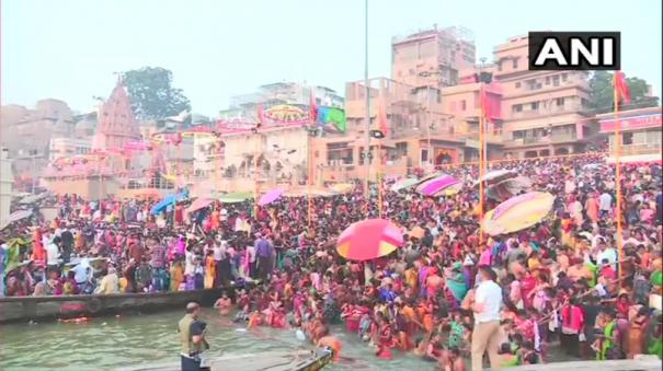 kartik-purnima-devotees-take-holy-dip-amid-high-security-in-ayodhya