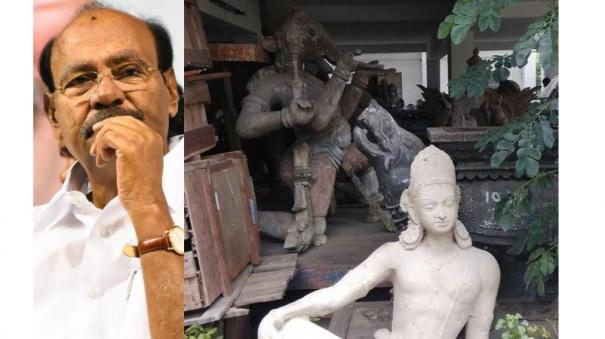 precious-antique-statues-seized-by-police-police-degenerate-into-office-car-parking-ramadas