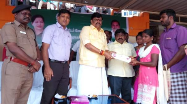 minister-rajendra-balaji-gives-rs-4-lakh-relief-fund-to-parents-of-the-child-who-died-last-month