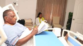 buduchery-cm-narayanasamy-inspects-files-in-hospital