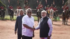 sri-lanka-president-accorded-ceremonial-reception-at-rashtrapati-bhawan