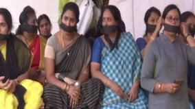 telangana-bjp-mahila-morcha-holds-silent-protest-over-rape-murder-of-woman-veterinary-doctor
