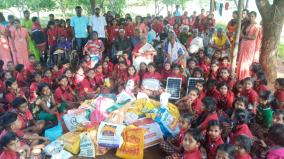 dindigul-school-kids-visitt-old-age-home-to-share-love-care-and-some-things-of-their-capacity
