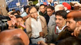 chidambaram-walks-out-of-tihar-jail-after-106-days