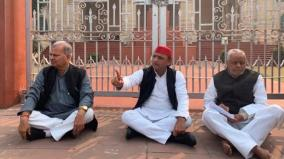 akhilesh-yadav-sits-on-protest-over-unnao-case-targets-up-government