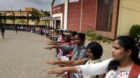 human-chain-protest-in-puducherry