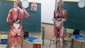 teacher-explains-anatomy-to-students-in-skin-tight-bodysuit