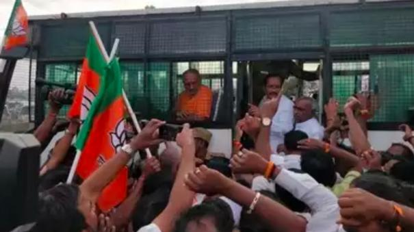 protest-to-arrest-nellai-kannan-police-file-case-against-311-bjp-members-including-h-raja