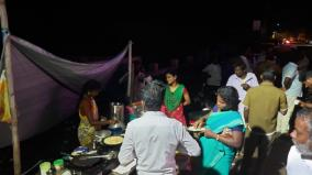 localbody-election-candidates-eats-in-road-side-shops