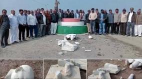 gandhis-statue-vandalised-in-amreli-district-of-gujarat