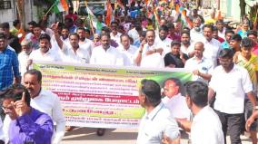 ruling-party-mla-protest-against-puduchery-cm-narayanasamy