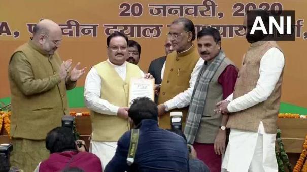jp-nadda-elected-unopposed-as-the-national-president-of-bharatiya-janata-party