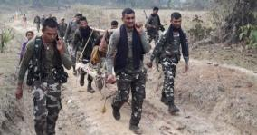 crpf-jawans-carry-pregnant-woman-on-cot-for-6km-to-hospital