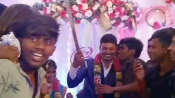 man-arrested-for-cutting-cake-with-a-knife-at-the-wedding