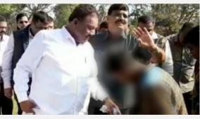 minister-gets-tribal-boy-to-take-off-his-slippers-case-filed-in-madurai