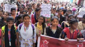 students-protest-against-fee-hike-in-puduchery-central-university