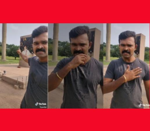 controversy-over-rajiv-s-memorial-spot-tiktok-video-congress-complains-to-nam-thamizhar-party-youth