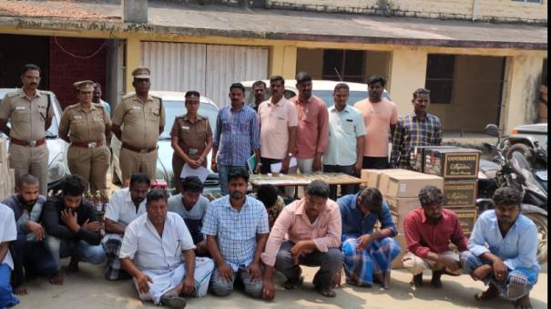 fake-label-for-smuggling-puducherry-liquor-10-arrested-for-sending-counterfeit-goods