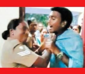 woman-head-constable-attacking-youth-who-complained-human-rights-commission-send-notice