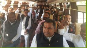 95-cong-mlas-reach-bhopal-airport-to-leave-for-jaipur