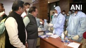 union-health-minister-dr-harsh-vardhan-visited-indira-gandhi-international-igi-airport