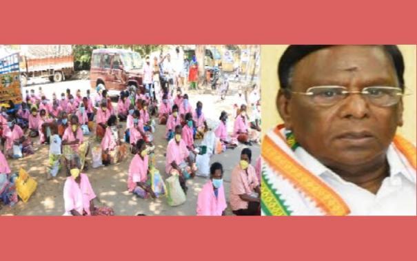 narayanasamy-gives-food-to-sanitation-workers
