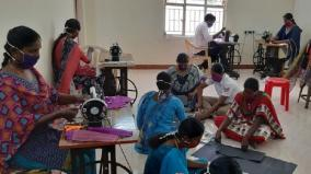 reserve-police-in-sivagangai-prepare-masks