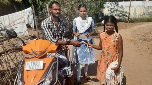 5th-grade-student-to-raise-awareness-for-free-face-shield-near-chidambaram-accumulation-and-appreciation