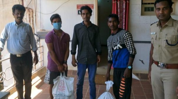 sivagangai-police-extend-helping-hands-to-migrant-labourers