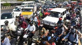 increasing-vehicle-traffic-in-chennai-first-time-traffic-increase-in-many-places