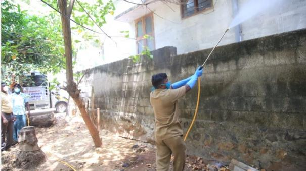 kumari-disinfectant-sprayed-in-residential-areas