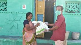 ettayapuram-teacher-gives-relief-materials-to-villagers