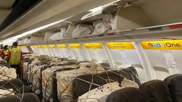 spicejet-operated-india-s-first-cargo-on-seat-flight-carrying-11-tons-of-vital-supplies