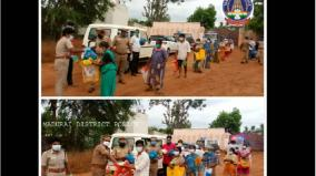 madurai-police-give-essential-relief-materials-to-poor