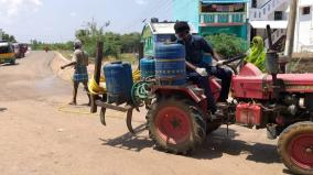 corona-scare-ayyanaruthu-village-being-sanitised