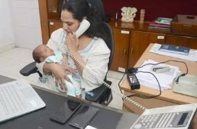 month-old-baby-in-arms-andhra-pradesh-ias-officer-back-at-work