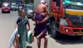 kerala-man-carries-ailing-father-on-shoulders-after-police-stop-vehicle-over-lockdown