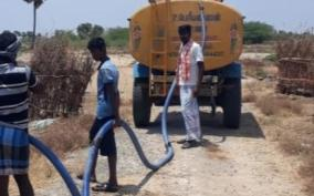 sivagangai-panchayat-leader-water-trees-in-his-own-cost