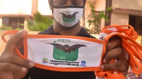 masks-with-bat-symbols-given-to-create-awareness