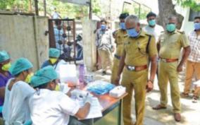 corona-test-for-police-personnel-in-madurai