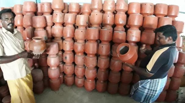 pot-makers-affected-in-lockdown-at-puduchery